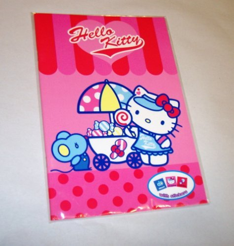 HELLO KITTY NOTEBOOK WITH STICKER SHEET