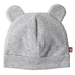 Zutano Cozie Fleece Hat - Heather Gray - 3M
