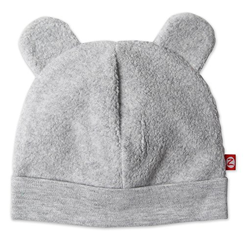 Zutano Cozie Fleece Hat - Heather Gray - 12M