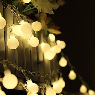 Spring Rose(TM) 10M/33 Feet-100 LED Globe String Lights Warm White Fairy Light Ball for Party Christmas Wedding New Year Garden Indoor Decoration