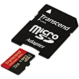 32 GB : Transcend 32 GB MicroSDHC Class 10 UHS-I Memory Card With Adapter 90 Mb/s (TS32GUSDHC10U1)