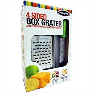 Amazon Com Microplane Four Sided Box Grater Plus A