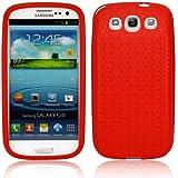 Schutzhülle für 3300mAh Akku-King Power Akku Samsung Galaxy S3 GT-i9300, S3 LTE i9305 - Rot