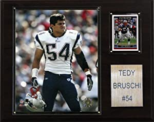 NFL Tedy Bruschi New England Patriots Player Plaque by C&I Collectables