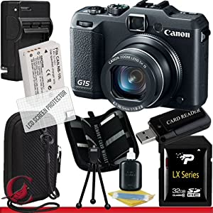 Canon PowerShot G15 Digital Camera 32GB Package 6