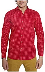 Oshano Men's Casual Shirt (OSH_040_m, Red, m)