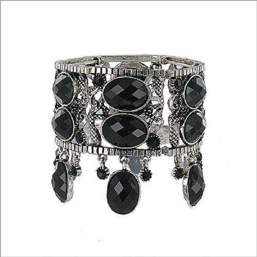 JOA Oval Facet Cut Stone Stretch Bracelet #041216