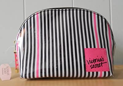 Best Cheap Deal for Victoria's Secret Logo Signature Stripe MakeUp Cosmetic Bag from Kodiake - Free 2 Day Shipping Available