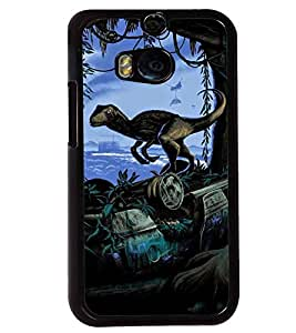 Printvisa Animated Dinosaur Causing Distruction Back Case Cover for HTC One M8::HTC M8