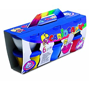 Carioca Finger Paint (Hobbycase Of 6 Pots)