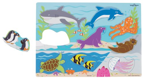 Small World Toys Ryan's Room Wooden Puzzles  - Aquarium - 1