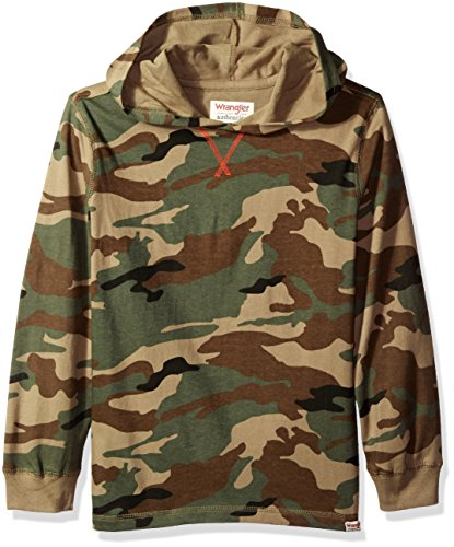 Wrangler Big Boys' Authentics Long Sleeve Hoodie, Olive Camo, Medium (Camouflage Clothing For Kids compare prices)