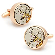 Round 20mm Watch Movement Cufflinks