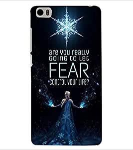 ColourCraft Image with Quote Design Back Case Cover for XIAOMI MI 5