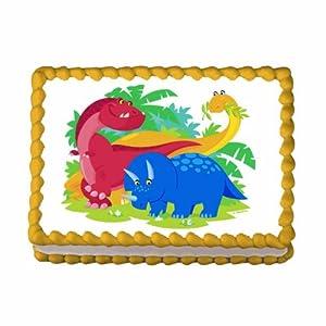Amazon.com: Dinosaur ~ Edible Image Cake / Cupcake Topper ...
