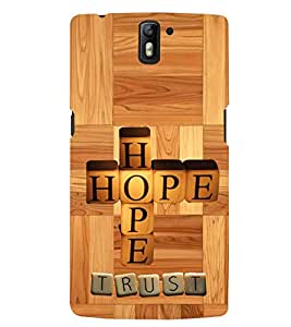 printtech Hope Back Case Cover for One Plus One::One Plus1