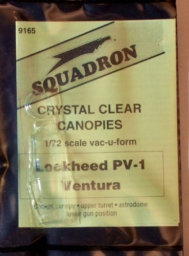 Squadron Products Lockheed PV-1 Ventura Vacuform Canopy