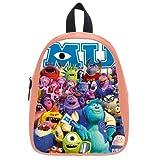 Generic Custom Cute Disney Monsters University Roles Printed Light Salmon School Bag Backpack Fit Short Trip PU Leather Large