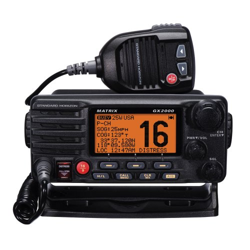Standard STD-GX2000-W 25-Watt Fixed Mount Matrix VHF Radio with AIS Display and Loudhailer (White)