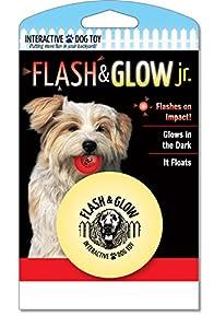 Flash and Glow Jr. Flashing Glowing Dog Ball, Small