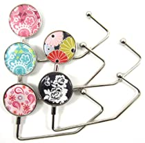 5 Pack Design Purse Hooks