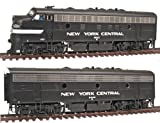 Walthers PROTO 2000 HO Scale Diesel EMD F7A-B Set Powered - Standard DC - New York Central #1684 and #2440 (black, Cigar Band, white stripe)