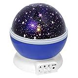 Skitic LED Sternenklar Nacht-Beleuchtung Romantische Rotating Kosmos Stern Himmel Mond Lampe Projektor Schlafzimmer Nachtlicht für Kinder, Baby, Liebhaber und Weihnachts-Geschenk (Blau)