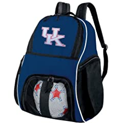 Kentucky Wildcats Ball Backpack Navy Ladies University of Kentucky Soccer Ball Bag... by Broad Bay