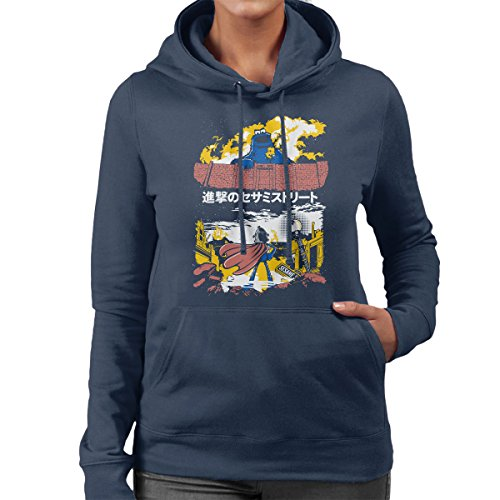 Attack On Sesame Street Cookie Monster Titan Women's Hooded Sweatshirt