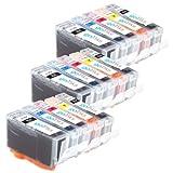 3 Compatible Sets of 5 HP 364 XL Printer Ink Cartridges for HP Photosmart 7510, 7520, B8550, B8553, C5380, C5383, C5390, C6300, C6380, D5460, D5463, D5468, D7560, Photosmart eStation C510, C510a, Photosmart Premium C309, C309g, C309h, C309n, C310, C310a,
