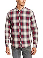 Blend Camisa Hombre (Rojo / Azul / Blanco)