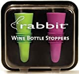 Metrokane 6121 Rabbit Silicone Wine/Beverage Bottle Stoppers, Set of 4