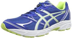 Asics Patriot 6 - Zapatillas de running para hombre, color azul / plata / amarillo, talla 42.5
