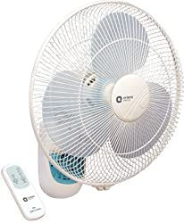 Orient Electric Wall-49 400mm Wall Fan with Remote set of 2 (Crystal White)