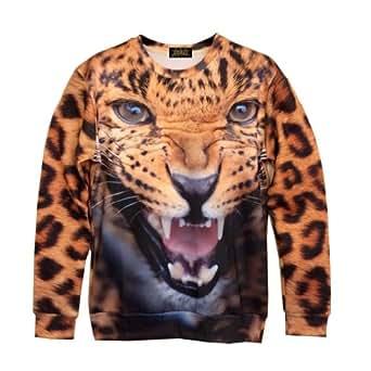 Zero Unisex Top Hipster Punk Rock Galaxy Exaggerating Sweater T Shirts (S ( US Size XS ), NO.3)