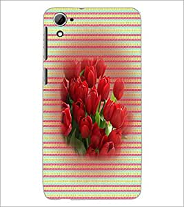 PrintDhaba Flowers D-3309 Back Case Cover for HTC DESIRE 826 (Multi-Coloured)
