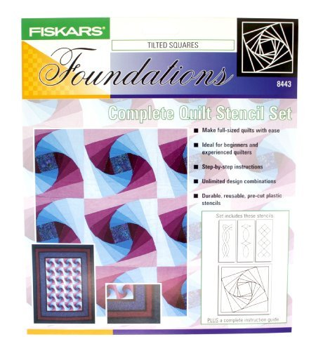 Fiskars Complete Quilt Stencil Set, Includes Twisted Log Cabin Pattern (Quilt Stencil Patterns compare prices)