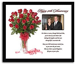 Wedding Gift List Amazon : Amazon.com - 40th Wedding Anniversary Gift for Anniversary Couple ...