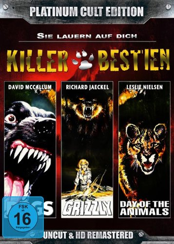 Killerbestien...sie lauern auf dich (Grizzly, Day of the Animals, Dogs-Killerhunde) - Platinum Cult Edition [3 DVDs]