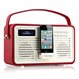 View Quest Retro ColourGen DAB+ Radio with 30-pin dock - Red