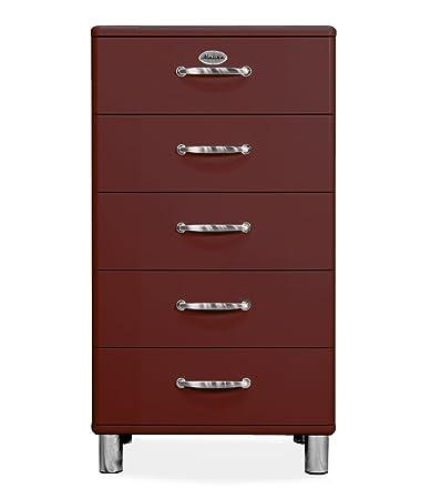 Tenzo 5215-035 Malibu Designer Kommode Holz, marsala, 41 x 60 x 111 cm