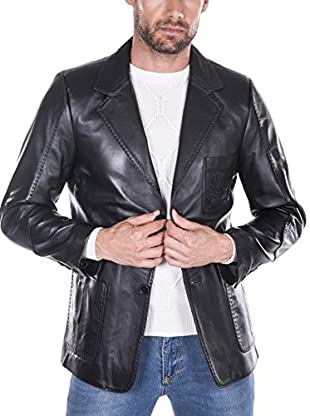 GIORGIO DI MARE Cazadora Piel Leather Jacket (Negro)
