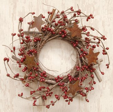 Pip Berry Bird Nest Burgundy Berries Vine Twig Base Country Primitive Floral Décor