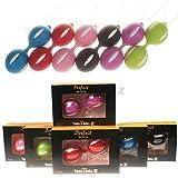 Evalley SEX TOYS, 1/3/5/10 QTY HOT Sale Geisha Duotone Silicone Kegel Exercise Ball Vagina Execise Smart Ball Love Ball Women Fun Sensitive Stimulation Ben Wa Ball, Color Random (3)
