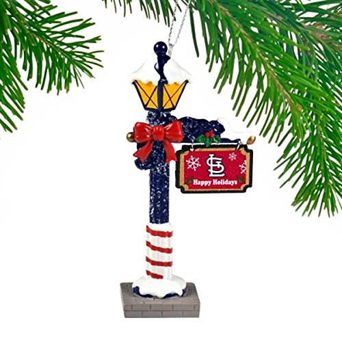 St. Louis Cardinals Official MLB 5.7 inch x 3 inch Street Lamp Christmas Ornament