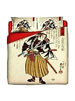 JAPAN MANIA by MANIFATTURE COTONIERE Edredón Ronin (Beige/Multicolor)