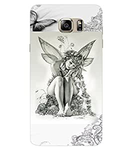 ColourCraft Butterfly Girl Design Back Case Cover for SAMSUNG GALAXY NOTE 7