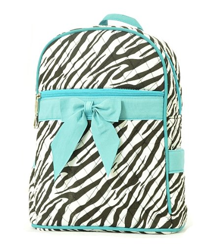 quilted zebra pattern zippered backpack diaper bags babies. Black Bedroom Furniture Sets. Home Design Ideas