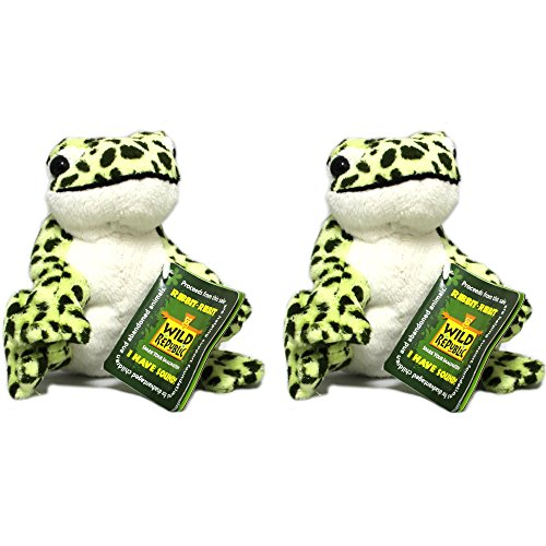 Wild Republic Frogs with Realistic Ribbit Sounds (2 Spotted Frogs Set)