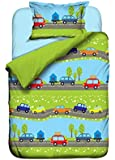 Aminata Kids - Kinderbettwäsche 100x135 Bettwäsche Auto Jungen Automotiv Baumwolle